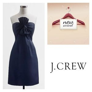 NWT J. Crew Factory strapless twisted bow dress